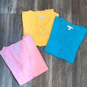 3 New York & Company long sleeve cardigans